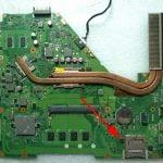 Asus X550, R510 płyta X550CL lokalizacja kości BIOSu